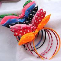 Wholesale Mixed Black Baby Girl - mix COLORS girls lace flower haribands   children cute headband kid baby headwear