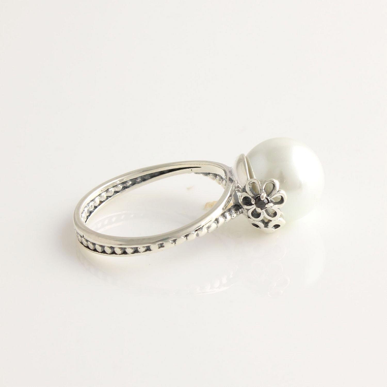fa641cbfa buy pandora pearl and flower ring 98070 6c010