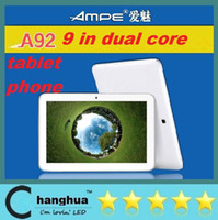 Wholesale Ampe Tablet Pc Phone Call - 9 Inch A23 Dual Core Camer 2G Phone Tablet Android 4.2 Allwinner A23 1.5Ghz 2G GSM WIFI Phone Call 512MB RAM 8GB Tablet PC AMPE A9 DHL FREE