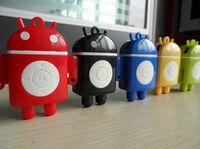 Wholesale Mp3 Player Android Robot - Mini MP3 Player - Portable Sport Android Robot MP3 Music Players with TF (Micro SD) Card Slot (No Memory Card)   Earphone   Retail Box