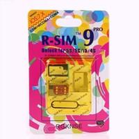 iphone 4s tarjeta desbloqueada al por mayor-Original R-SIM 9 RSIM9 R-SIM9 Pro Tarjeta SIM perfecta Desbloqueo IOS 7 7.0.6 oficial 7.1 ios7 RSIM 9 para iphone 4S 5 5S 5C GSM CDMA WCDMA 3G / 4G