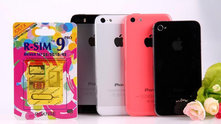 Original R-SIM 9 RSIM9 R-SIM9 Pro Perfect SIM Card Unlock Official IOS 7 7.0.6 7.1 ios7 RSIM 9 for iphone 4S 5 5S 5C GSM CDMA WCDMA 3G/4G