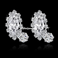 Wholesale Earing For Wholesale - Fashion Earing For Women 2014 Jewelry Beautiful Stud Earrings Rhinestone High Quality Small Silver Earings SER140274