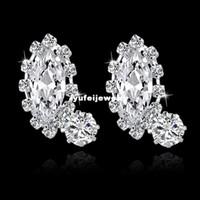 Wholesale Silver Earing Studs - Fashion Earing For Women 2014 Jewelry Beautiful Stud Earrings Rhinestone High Quality Small Silver Earings SER140274
