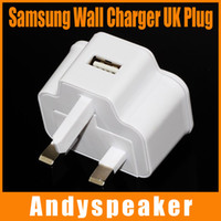 Wholesale 2a 5v Ac Dc Universal - Samsung UK Power Adapter Wall Charger USB Plug Travel Universal AC DC 5v 1A 2A For SamSung Galaxy S3 S4 S5 With 50PCS UP
