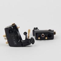Wholesale Tattoo Color Silicone - Pro Black Color Rotary Tattoo Machine Gun Stigma Hyper V3 4 Colors Assorted +Silicone RCA Clip Cord