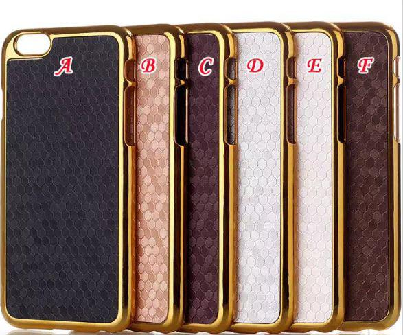 Bling Football Chrome Metallic Electroplated Metal Alloy Aluminum Plus Gold skin Hard Case For iPhone 6 4.7' 5.5' Plus Gold skin