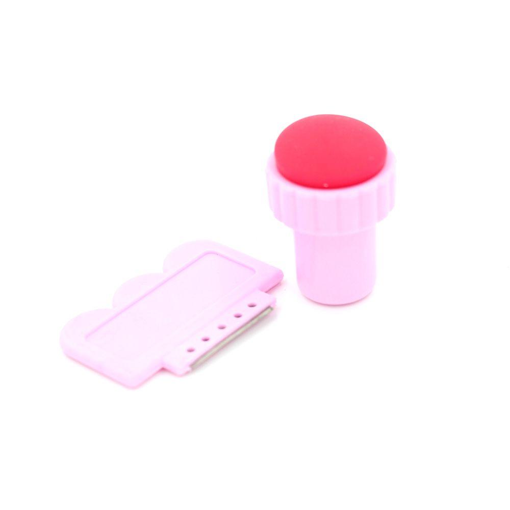 24 pçs / lote DIY Nail Art Carimbar Kits + Selo + Raspador de Unhas de Impressão Set Nail Art Começou Kit + Prego Placas de Imagem de Arte