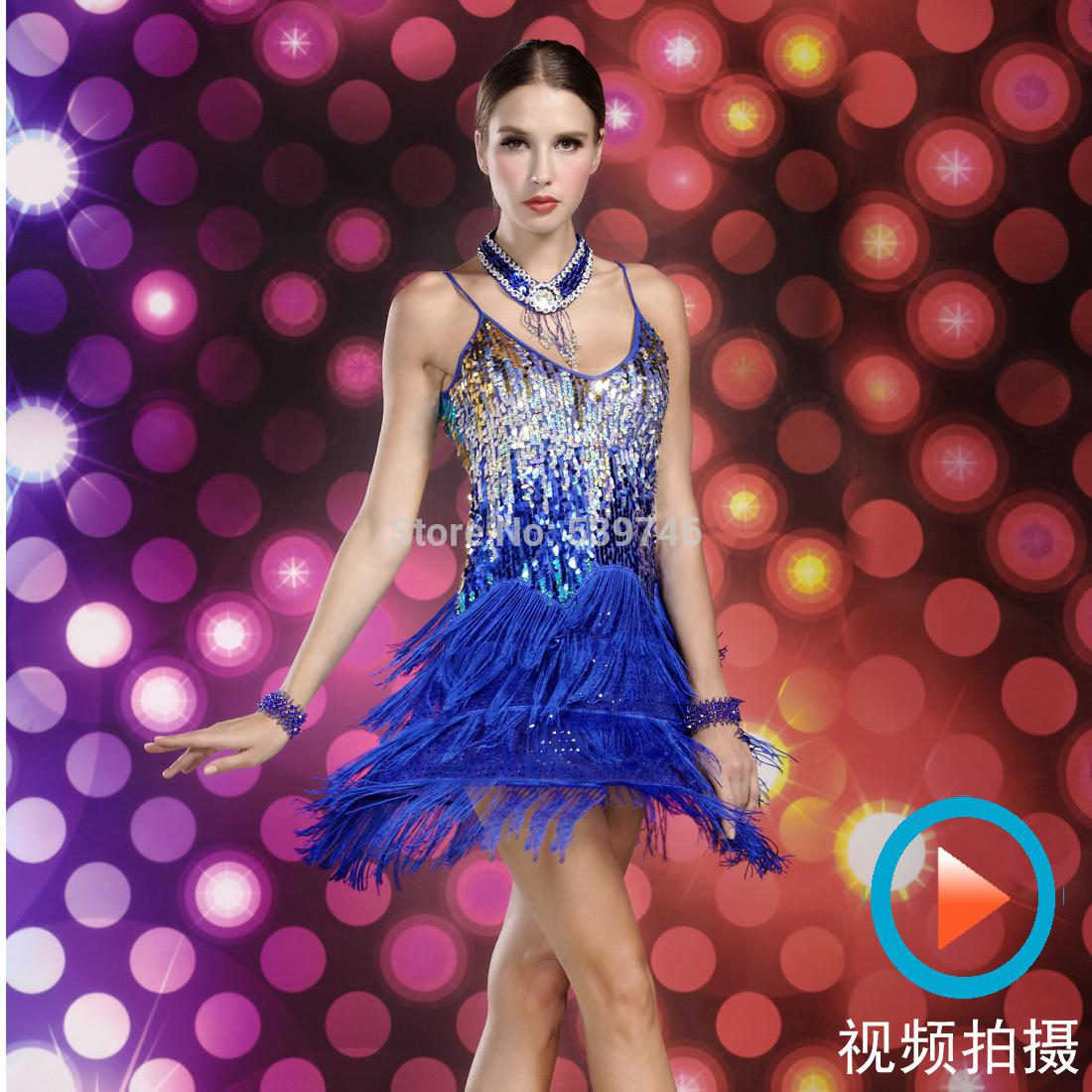 2018 Wholesale Latin Fringe Dance Dress Women For Competition ...