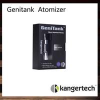kanger venda por atacado-Kanger Genitank substituível Dual Coil Clearomizer Kangertech Genitank Atomizador Com Tanque de Capacidade de 2.4 ml Tubo de Vidro Pyrex Cooper
