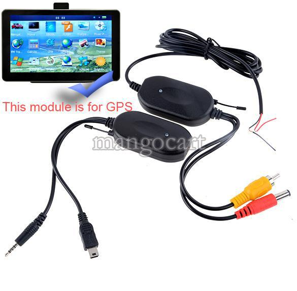 car dvr 2.4 ghz wireless rca video transmitter receiver kit for car monitor to connect the car rear view reverse camera backup#10 14741