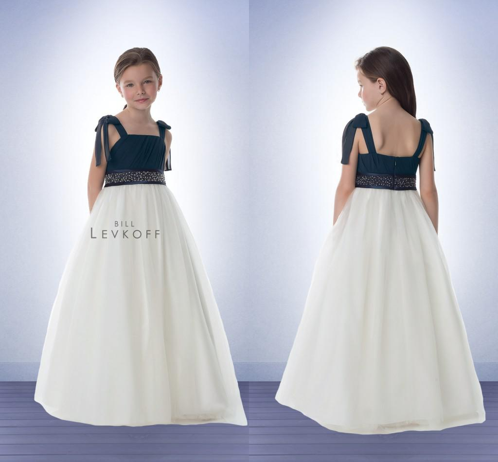 Chiffon junior bridesmaid dresses navy blue and white square neck chiffon junior bridesmaid dresses navy blue and white square neck crystal sash 2014 hot floor length flower girl dresses for girls dl1313545 junior ombrellifo Image collections