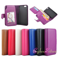 Wholesale Slots Cash - For iphone 6 i6 Plus 6Plus Billfold Wallet Photo Frame Leather Case With Card Slot Money Cash Pocket Cover for iPhone6