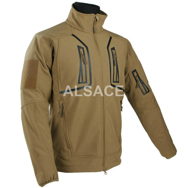 """top popular High quality """"STORM"""" Outdoor Tactical Shark Skin Softshell Jacket Waterproof Windproof Sports Army Clothing 2021"""