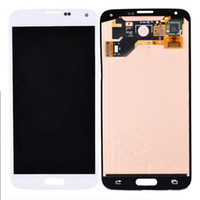 Wholesale Ems Dhl Bar - For Samsung Galaxy s5 i9600 LCD Screen With Touch Screen Digitizer Assembly 3PCS DHL EMS free