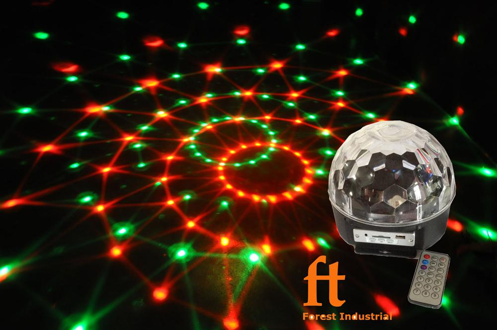 Newest powerful disco ball light Mp3 music 6colors RGBWPY led disco party  dj lights decoration for all festivals free shipping luz dj