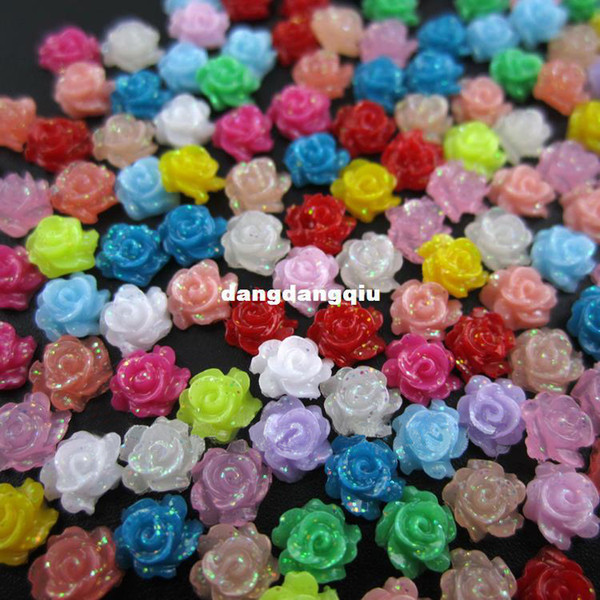 best selling Wholesale-MNS153 New arrives 200pcs 5MM 3d flower nail art resin decorative design dried flowers nail charms wholesale