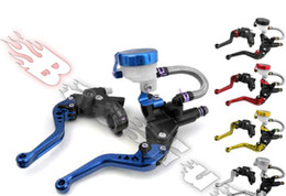 Wholesale Can Brake - one pair can Adjustable Clutch Brake Oil Fluid Master Cylinder Set Reservoir Levers Universal Handlebars 22mm 7 8