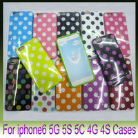 Soft Polka Dot Dots TPU Gel Housse Housse pour Apple iPhone6 ​​plus 4.7 5.5 pouces I6 6G iphone5 5s 5c