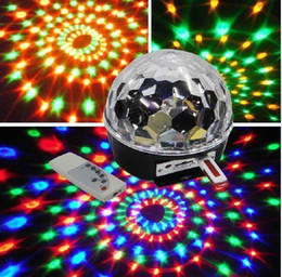Magic Ball Rgb 3w Canada - MP3 Disco DJ Stage Lighting LED RGB Crystal Magic Ball DMX light KTV Party Led6*3W Channel DMX512 Control Digital AU UK EU US plug
