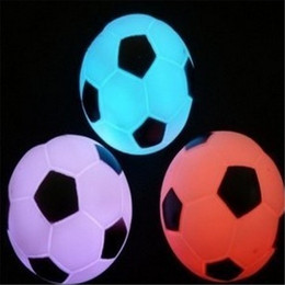 Wholesale Led Holiday Light Night - Changing Colorful LED Football Soccer Light Lamp Night Party Holiday Decoration Xmas Gift Present For Children Night Lights 7colours