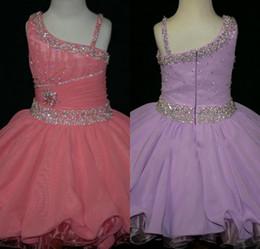 Crystal Beaded Ruffles cintura cupcakes infantile mini gonne partito occasione formale ball gown ragazza pageant abiti Little Rosie abito corto da