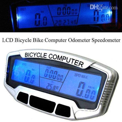 Bisiklet aksesuarları döngüsü Bilgisayar bisiklet bilgisayar Bisiklet Hız ölçer SD558A LCD Bilgisayar Kilometre Sayacı Kilometre Velometer Arka ...