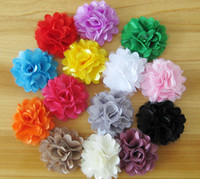 "Wholesale tulle hair clip wholesale - 60 pcs hair accessories kids,bows flower,baby girls headband flower Headwear cute 2"" Mini Shimmery Tulle Chiffon Flowers with clip HD3230"