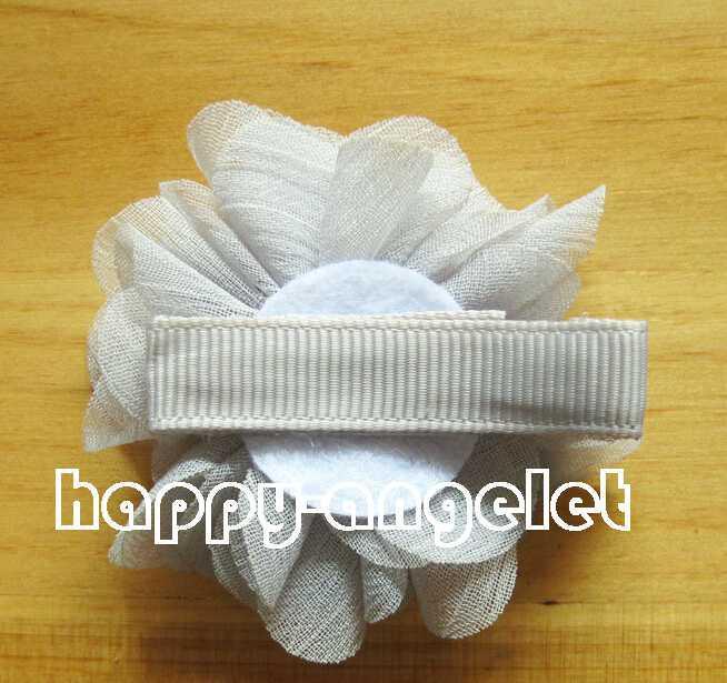 "hair accessories kids,bows flower,baby girls hair clip Headwear 2"" fashion handmade pearl chiffon flower with beads rhinestone HD3233"