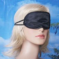 Wholesale Eye Mask Shade Nap - Eye Mask Shade Nap Cover Blindfold Travel Rest Professional Skin Health Care Treatment Black Sleep