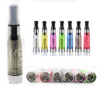 Wholesale Electronic Cigarette Cotton Cartomizer - Ecig CE4 Atomizer Cartomizer 1.6ml Long Cotton Thread E-liquid Vaporizer Pen For Electronic Cigarette Ego Vision Spinner Evod Battery AT010