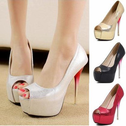 Wholesale Sexy Silver Prom Heels - elegant stiletto heel silver wedding shoes multi colors sexy high heel shoes ladies prom gown dress shoes size 35 to 40