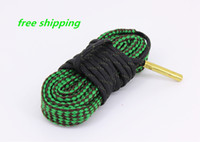 Wholesale Bore Snake Cleaner - Free Shipping 100% new! .22 .223 5.56 nato Brass rifle pistol bore snake Gun cleaning Weighted Cord Pul