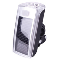 Wholesale Solar Bicycle Light Front - Bike Bicycle 4 LED Solar And USB 2.0 Rechargeable Front Head Light Headlight#42383, dandys