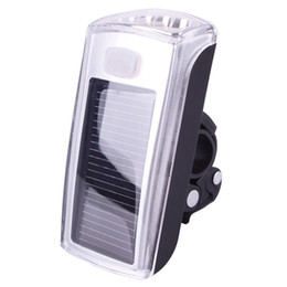Wholesale Solar Bike Head Lights - Bike Bicycle 4 LED Solar And USB 2.0 Rechargeable Front Head Light Headlight#42383, dandys