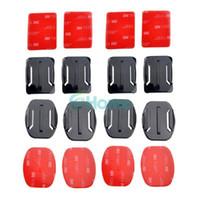 Wholesale Gopro Adhesive - 4pcs Flat + 4pcs Curved Mounts W  3M Adhesive Pads For Gopro Camera Hero 1 2 3#55581, dandys