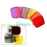 Wholesale Gopro Filter Underwater - New Housing Lens Deep Underwater Sea Dive Filter For Gopro Hero 3 Six Colors#54798, dandys