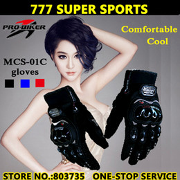 Wholesale Pro Motorcycle Racing - Hot Sales Full Finger Motorcycle Gloves Moto Bicycle Glove Cycling Racing Guantes Wholesale Drop Shipping Pro-biker Brand MSC-01C