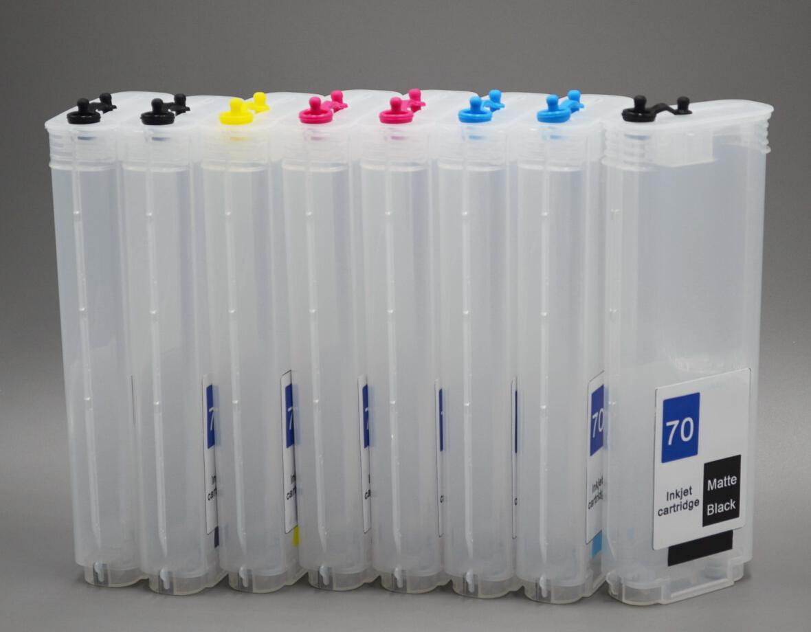 HP 70 260 ml 12 kleuren navulbare inktcartridges met automatische reset-chips voor HP Designjet Z3100-printer