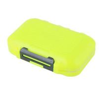 caixa de isca impermeável venda por atacado-Laranja 12 Compartimentos De Pesca Lure Colher Gancho Tackle Box Caso À Prova D 'Água # 44951, dandys