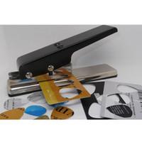 Wholesale Plectrum Cutter - Professional Guitar Plectrum Punch Picks Maker Card Cutter DIY Black#46101, dandys