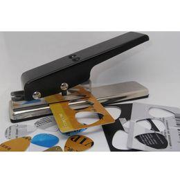 Wholesale Celluloid Guitar - Professional Guitar Plectrum Punch Picks Maker Card Cutter DIY Black#46101, dandys