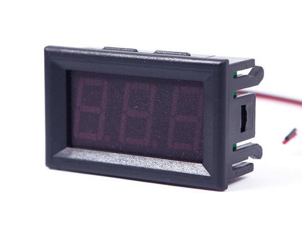 Sıcak Satış DC 0-30 V Kırmızı LED 3-Digital Ekran Gerilim Voltmetre Paneli Motosiklet 01 # 55834, dandys