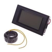 Wholesale Digital Panel Amp Volt - Hot Digital AC Ammeter Voltmeter LCD Panel Amp Volt Meter 100A 300V 110V 220V #55840, dandys