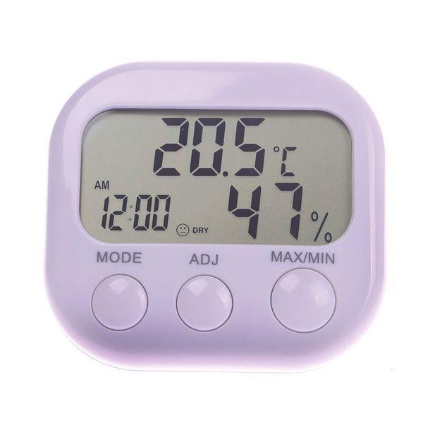 New Hot Indoor Large Screen Digital Thermometer Humidity Hygrometer Meter Date Clock#53378, dandys