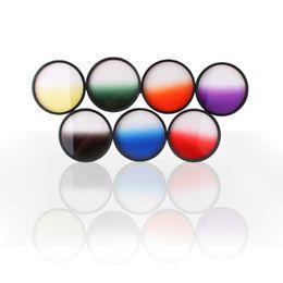 Wholesale Gradual Lens - Hot Sale Optical Netural Grad Gradual ND-Grads Filter For Camera Lens 77mm 7 Colors#54801, dandys