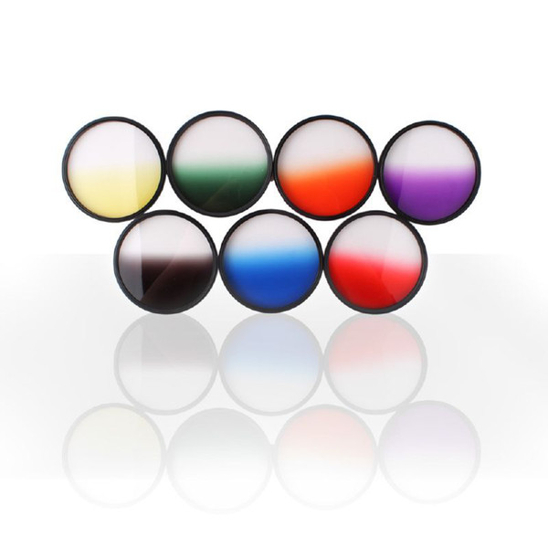 Hot Sale Optical Netural Grad Gradual ND-Grads Filter For Camera Lens 77mm 7 Colors#54801, dandys