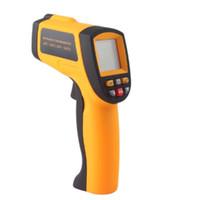 pistola infrarroja temperatura contacto láser al por mayor-Nueva venta caliente sin contacto IR láser temperatura pistola infrarrojo termómetro digital GM700 # 16 # 56651, dandys