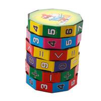 matematik oyuncakları toptan satış-2 X Yeni Çocuk Çocuk Matematik Sayılar Sihirli Küp Oyuncak Yapboz Oyunu Hediye # 23528, dandys