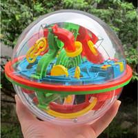akıl oyunu toptan satış-Sıcak Satış 100 Bariyerler Komik 3D Bulmaca Labirent Top Uzay Akıl Oyunu Aşamaları Çocuklar Oyuncak Hediye # 55458, dandys